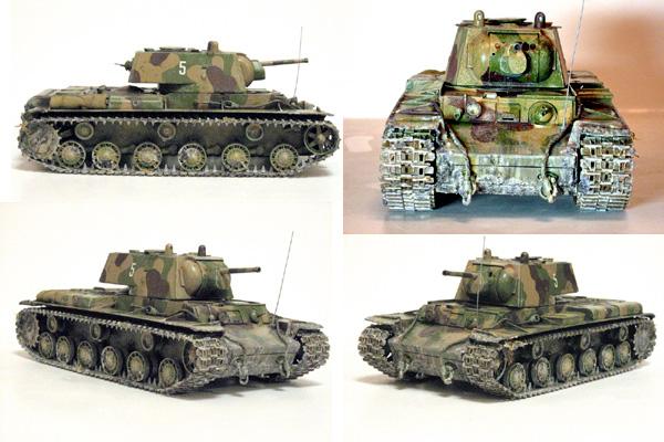 КВ-1 в боевой раскраске