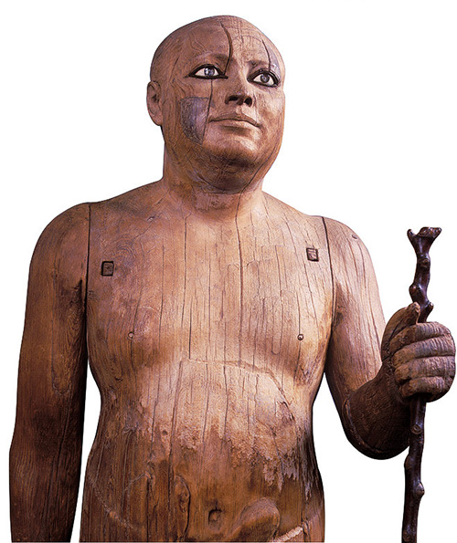 Типичный древнеегипетский жрец. Деревянная скульптура ок. 2500 г. до Р. Х.