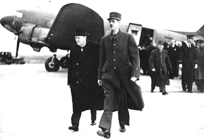 Шарль де Голль и Винстон Черчиль, 1944 г. Источник: bridgemanart.com