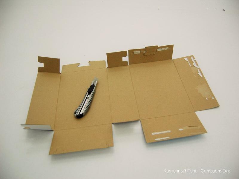 Как сделать из коробки нож
