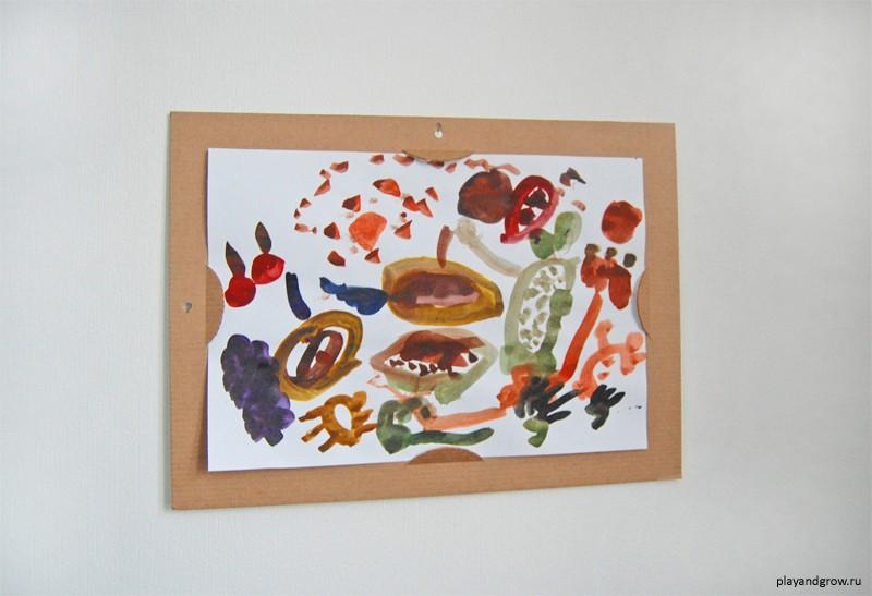 Как сделать рамку на детский рисунок