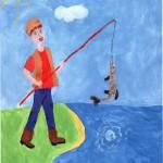 Папа на рыбалке