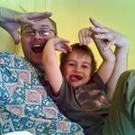Мы с папой веселим маму (Вылитый батя!)