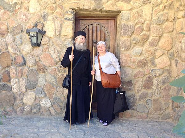 Протоиерей Геннадий и матушка Лидия, Синай, 2013 г.