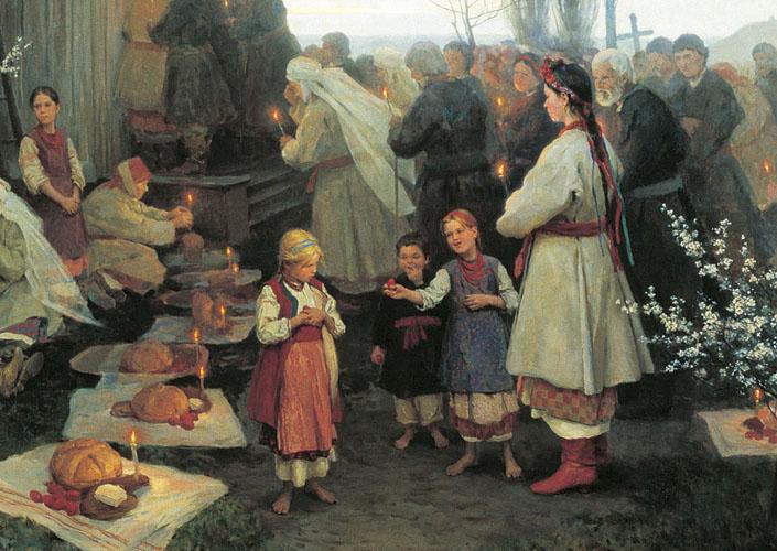 Н. К. Пимоненко. «Пасха». Фрагмент.