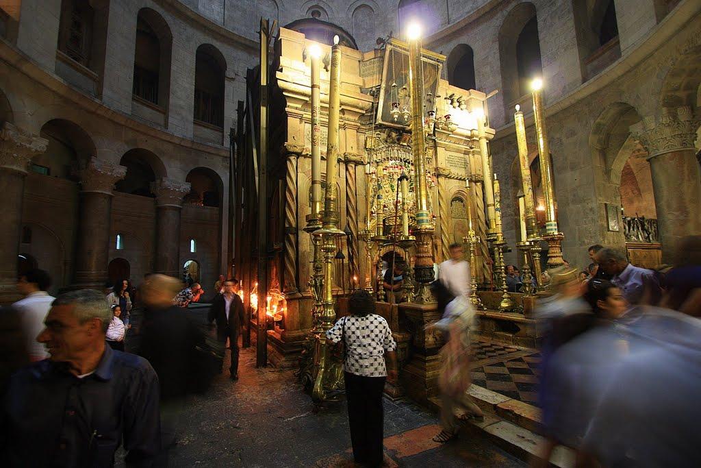 Кувуклия Храма Гроба Господня в Иеруслаиме. Фото: panoramio.com, пользователь JEWECALA