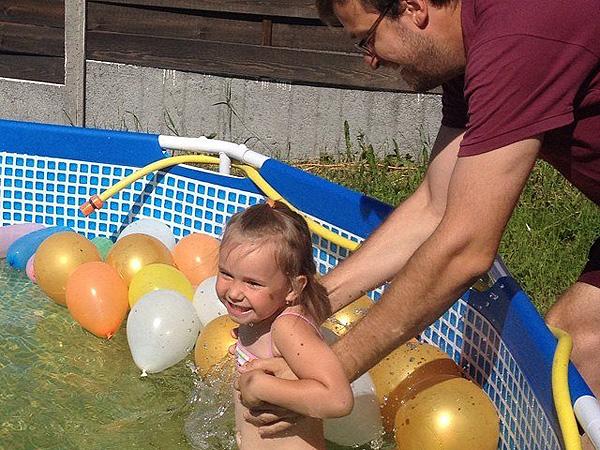 Олег Юстус с дочерью