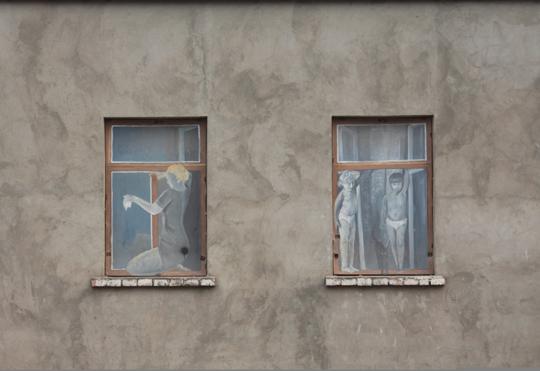 Рисунки на одном из боровских домов. photosight.ru. Фото: Алина Соломко