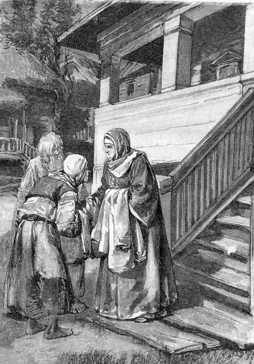 Святая Иулиания Лазаревская Муромская подает хлеб голодным