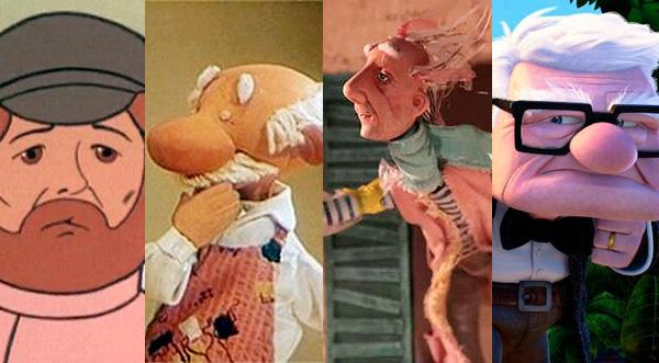 Восемь мультфильмов о дедушках