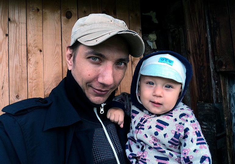 Виталий Уразов с сыном Иоанном