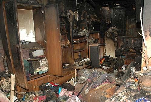 После пожара в доме Симушиных
