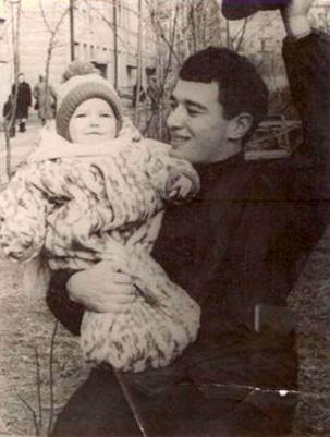 Марина с папой. 1971 г.