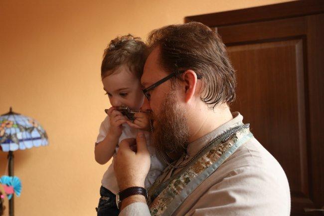 Протоиерей Константин Пархоменко с сыном