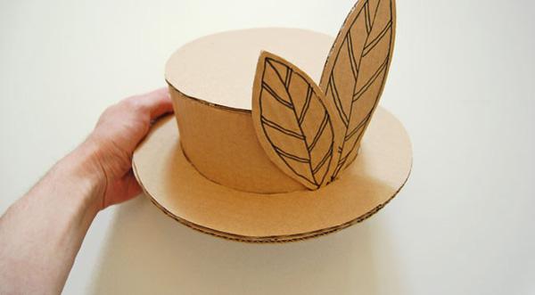 Картонный папа. Шляпка из картона