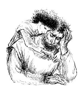 """Иллюстрация к книге """"Ронья, дочь разбойника"""""""