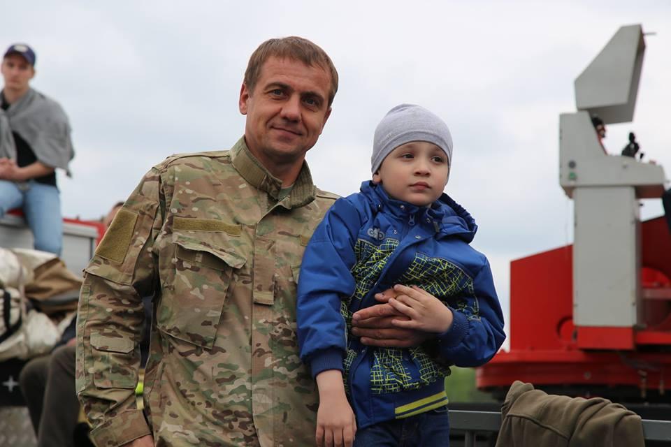 Василий Дьяченко с сыном
