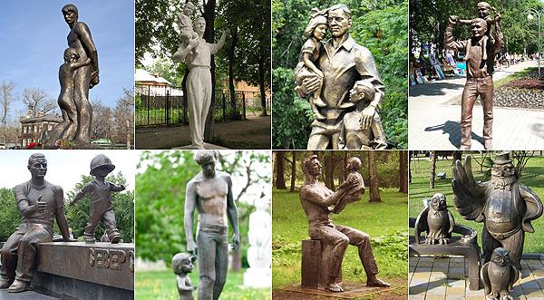 8 памятников отцам в России