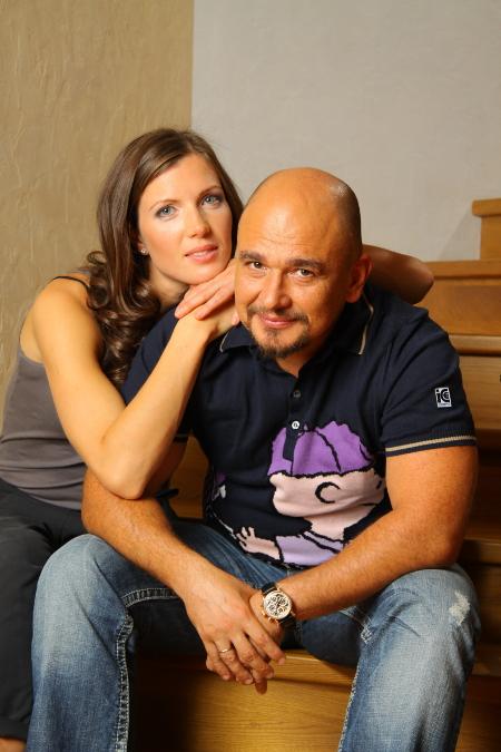 Сергей Трофимов с супругой Анастасией