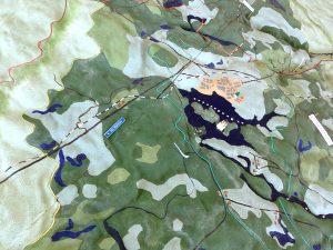 Макет территории Валдайского национального парка в Визит-центре парка