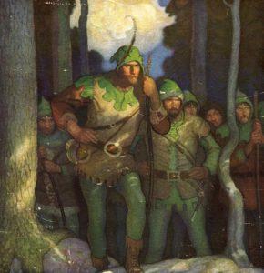 Иллюстрация к книге о Робин Гуде, художник Ньюэлл Конверс Уайет (N. C. Wyeth), 1917 г.