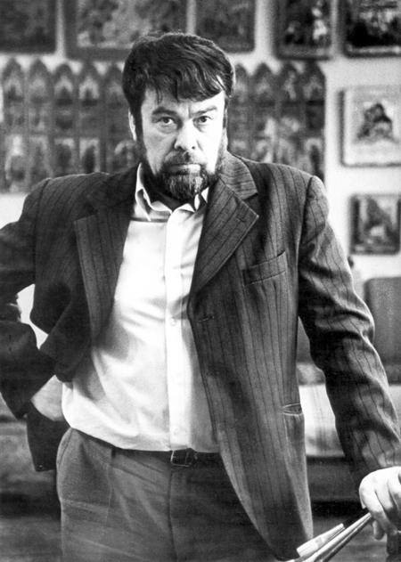 Геннадий Мосин в мастерской