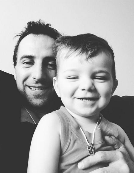 Илья Любимов с сыном
