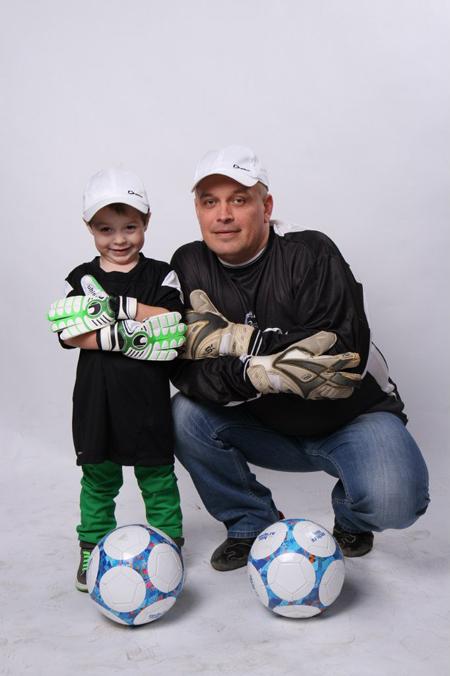 Сергей Пятовский с сыном Сережей